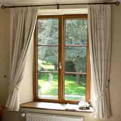 Casement windows are hinged from the side.
