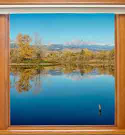 Picture windows maximise enjoyment of your views.